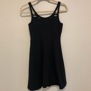 Express Black Fit Flare Cutout Dress XS worn 1x